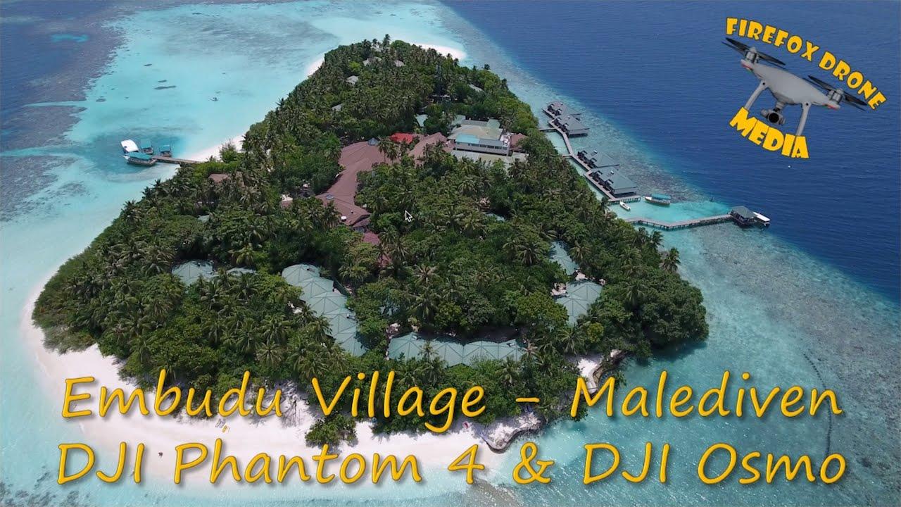 Embudu Village Malediven Dji Phantom 4 Amp Osmo Youtube