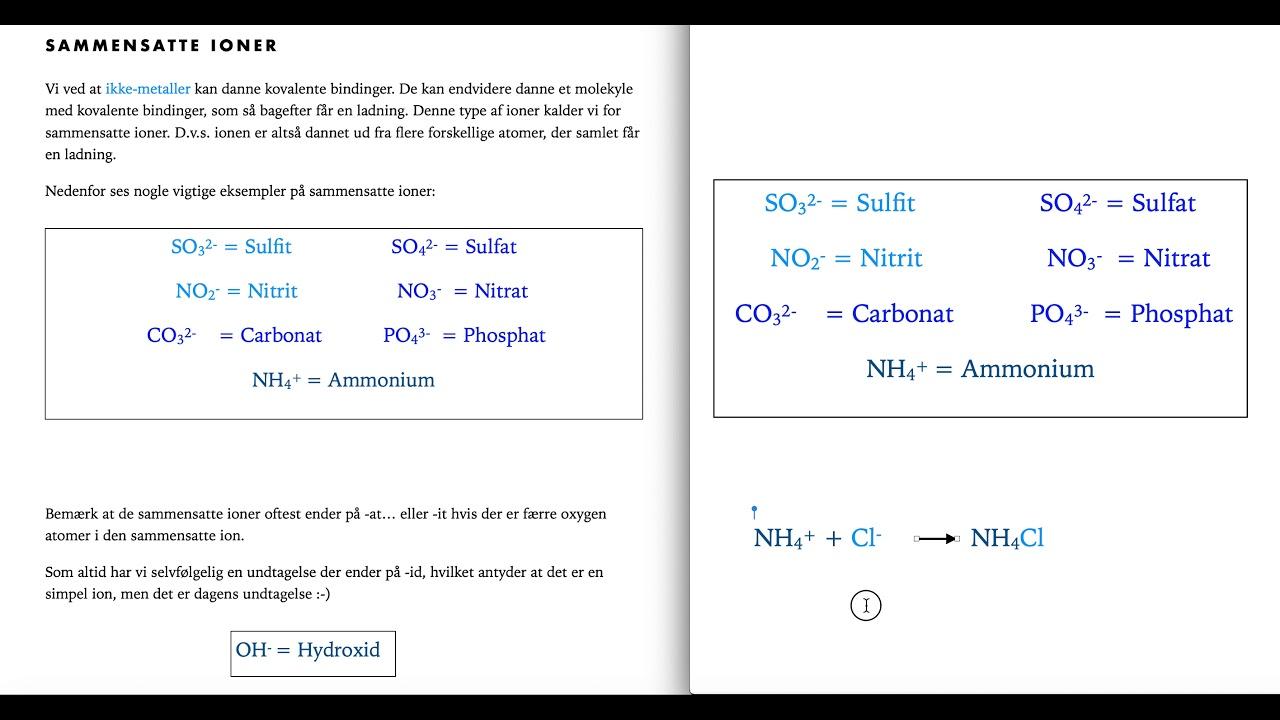Kemi C - hjælpefilm uge 5D - sammensatte ioner