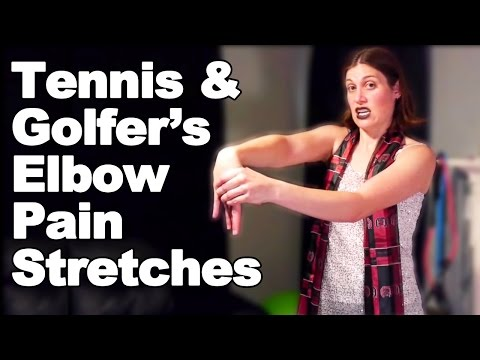 Tennis Elbow & Golfer's Elbow Pain Stretches – Ask Doctor Jo