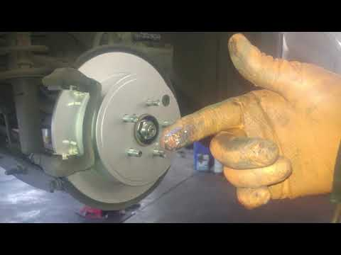 Rear brake pad replacement 2014 Subaru Outback .  How to replace rear pads and rotors.