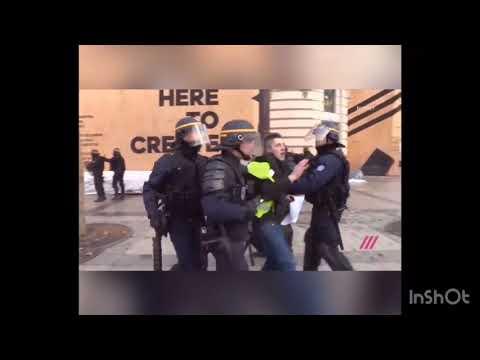 Париж#Митинг#Протест#Полиция#Франция#24.11.18