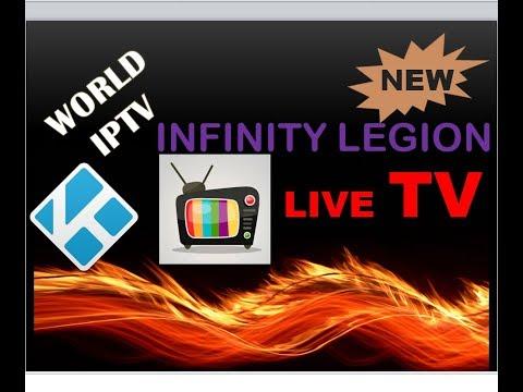 World IPTV Live channel Add on Infinity Legion || Kodi Add on Dec 2017