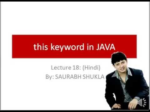 Lecture 18 this Keyword in Java Hindi - YouTube