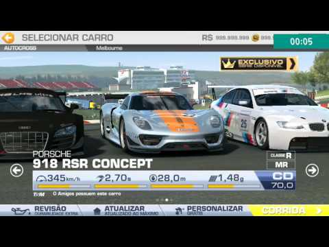 role de porsche 918 concept real racing 3 youtube. Black Bedroom Furniture Sets. Home Design Ideas