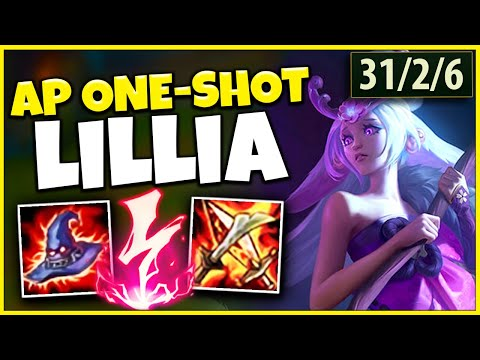 *MY NEW MAIN* LILLIA CAN 100% INSTANT ONE-SHOT ANYONE!!! BEST CHAMPION YET! - League of Legends
