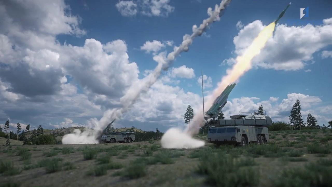 "Работа ЗРК ""Бук-М2"" по BGM-109 Tomahawk и  F/A-18 Hornet, ЗРС С-300ВМ ""Антей-2500&quo"