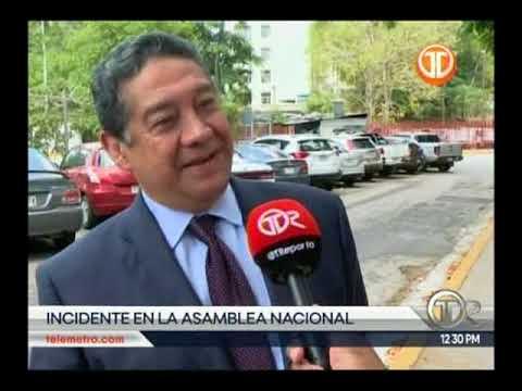 Telemetro  Se registra incidente entre periodista de canal 13 y seguridad de la Presidenta de la AN