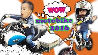 VLOG Крутая выставка Harley Davidson, BMV, DUCATI. Делаем обзор мотоцикла MAISTO.  Motobike 2016.