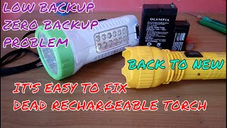 How to fix backup problem of Rechargeable torches/Emergency lights.