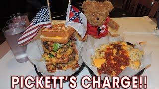 Pickett's Charge Burger Challenge in Gettysburg!!