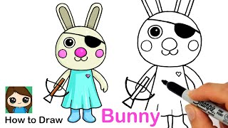 How to Draw Bunny | Roblox Piggy