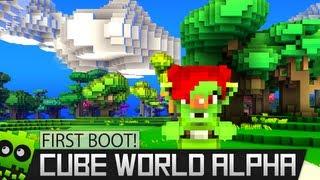 ► First Boot : Cube World Alpha - Rogue Gameplay