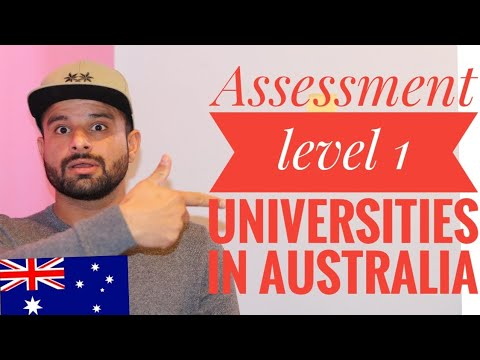 What Are The Number 1 Universities In Australia||Assessment Level 1