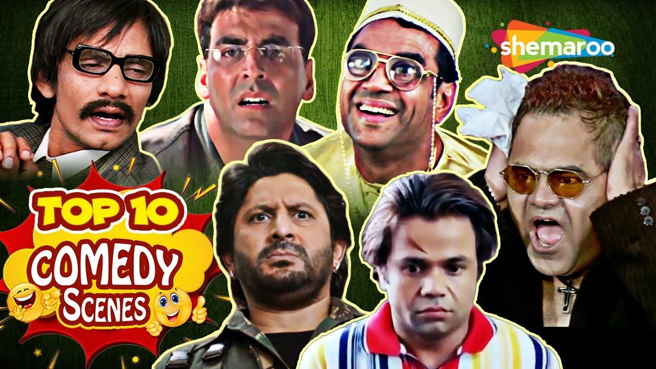 Top 10 Comedy Hindi Comedy Scenes | Dhamaal - Welcome - Dulhe Raja - Dhol - Aag - Chhote Sarkar
