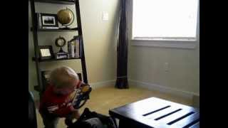 Tristan the Rockstar - before his guitar and drums, there was a xylophone and mini-keyboard