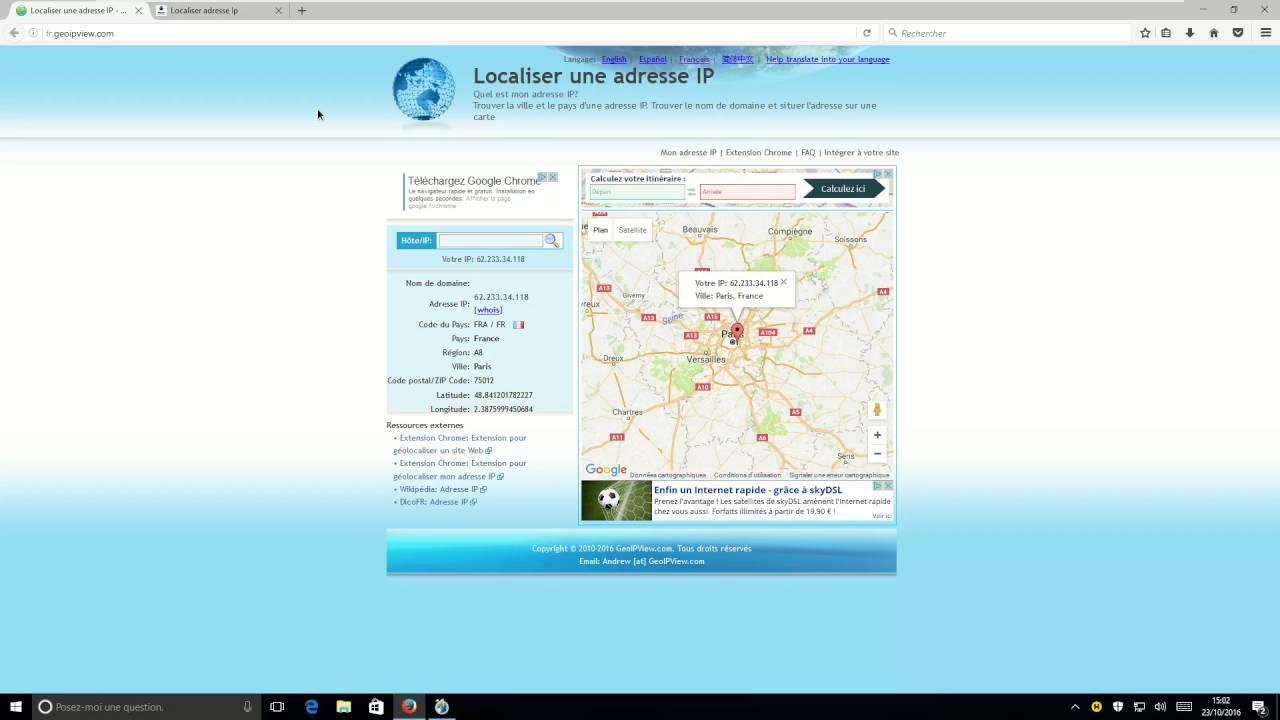 logiciel localisation géographique