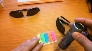 как проверить очки на защиту от ультрафиолета ?