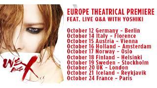 Tour Dates: http://www.bandsintown.com/YOSHIKI October 12 – Berlin,...