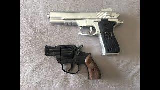Unboxing e review revólver Rambo Lawman.357 magnum e comparação com Pistola Colt M1911 airsoft