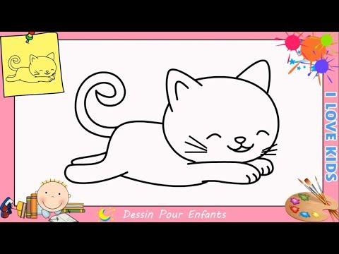 Comment Dessiner Un Chat FACILEMENT Etape Par Etape Pour ENFANTS 8
