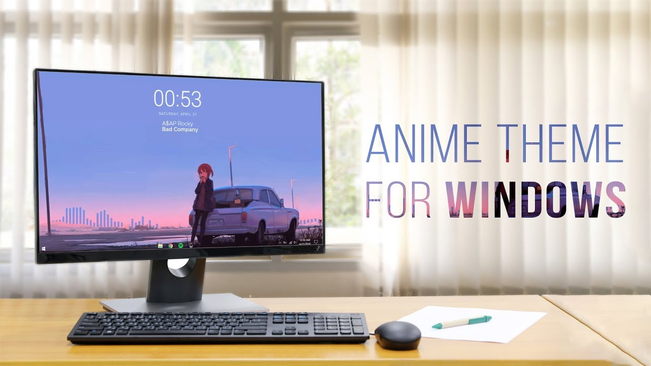 calm anime desktop make windows look better youtube