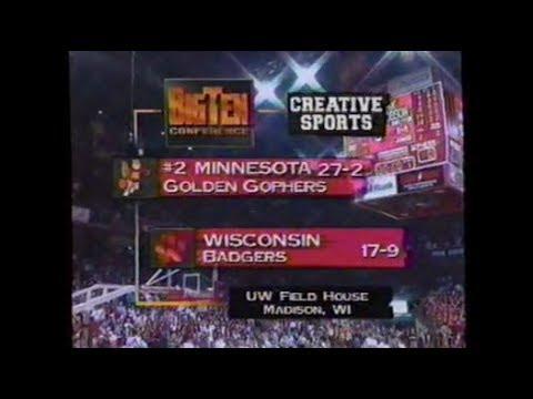 1997 Wisconsin Badgers Basketball vs Minnesota Gophers