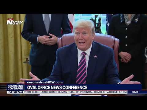 TAKING ON THE MEDIA: President Trump FULL Oval Office News Conference