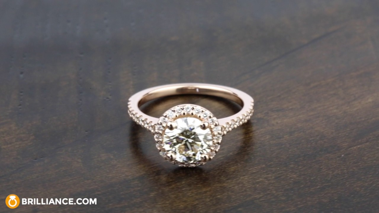 97bde7019 Diamond Engagement Ring in Rose Gold with M Color Diamond - YouTube