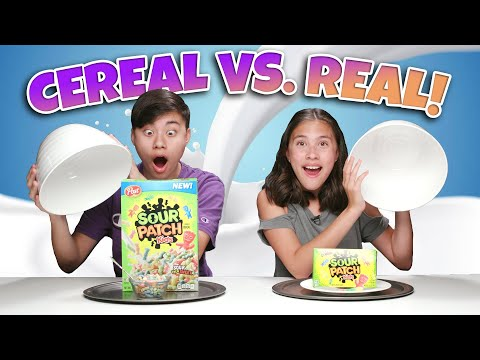 CEREAL VS. REAL CHALLENGE!!! Eating The World's Most Sour Breakfast Cereal!