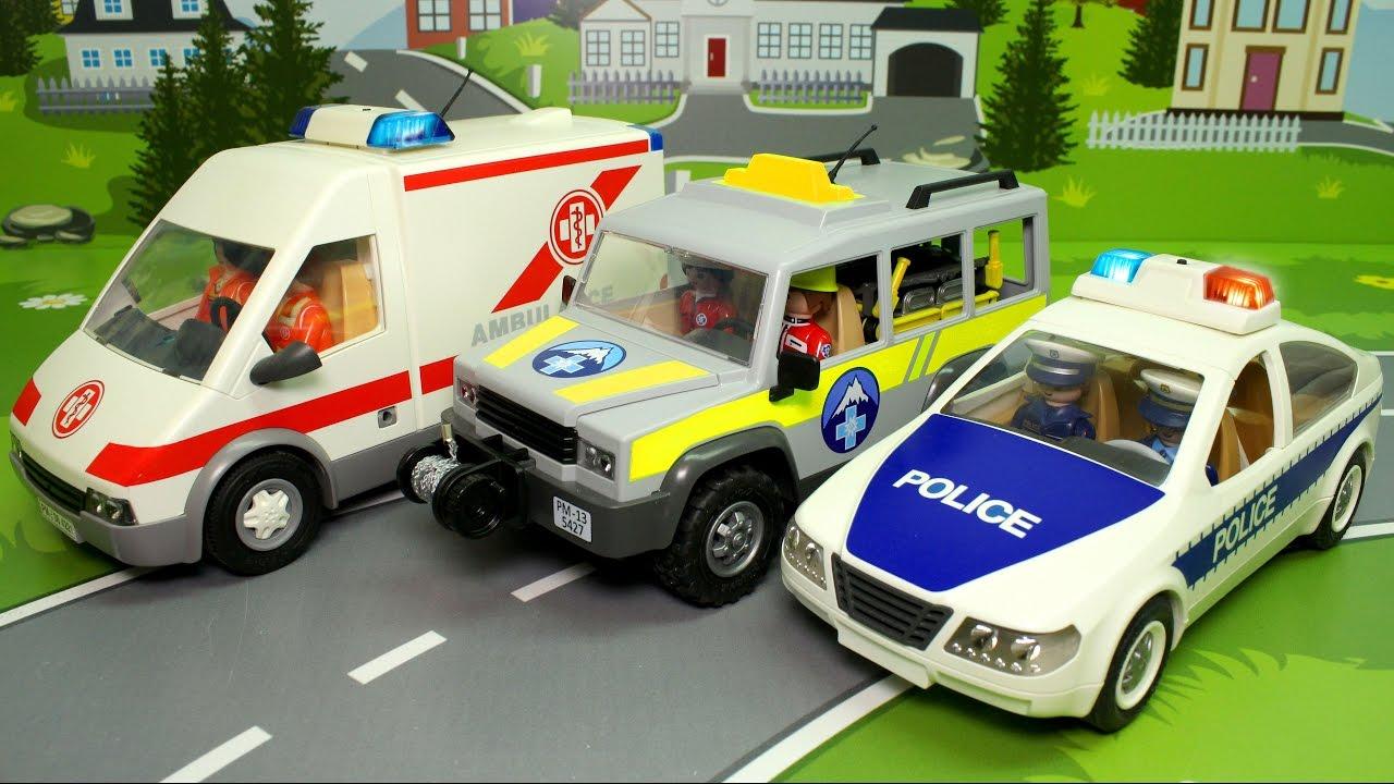 Мультики Про МАШИНКИ - Землетрясение. Машины помощники - Полицейская Машина Скорой помощи Аварийная.