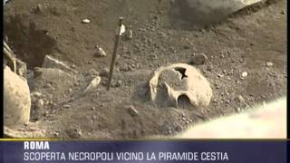 Piramide Cestia scoperta necropoli