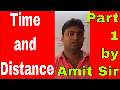 Time and Distance Part 1by Amit Sir