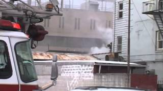 paterson nj fire dept 3rd alarm fire in a bakery 351 grand st march 7th 2015