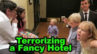 Terrorizing a Fancy Hotel w/ Eh Bee Family