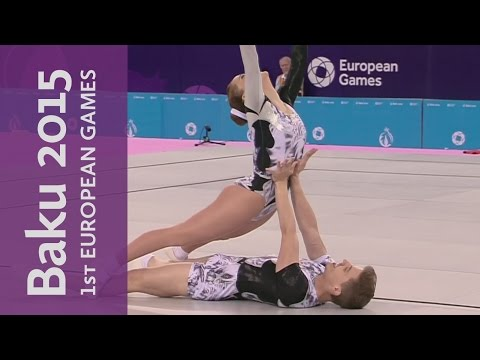 Mixed Pair Final | Gymnastics Aerobic | Baku 2015 European Games