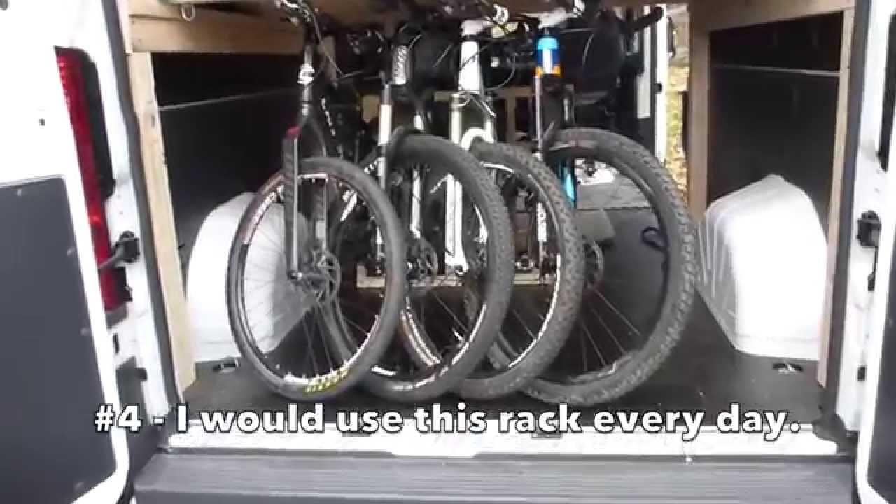 Dodge Promaster Bike Rack 4 Bikes Under Bed Youtube