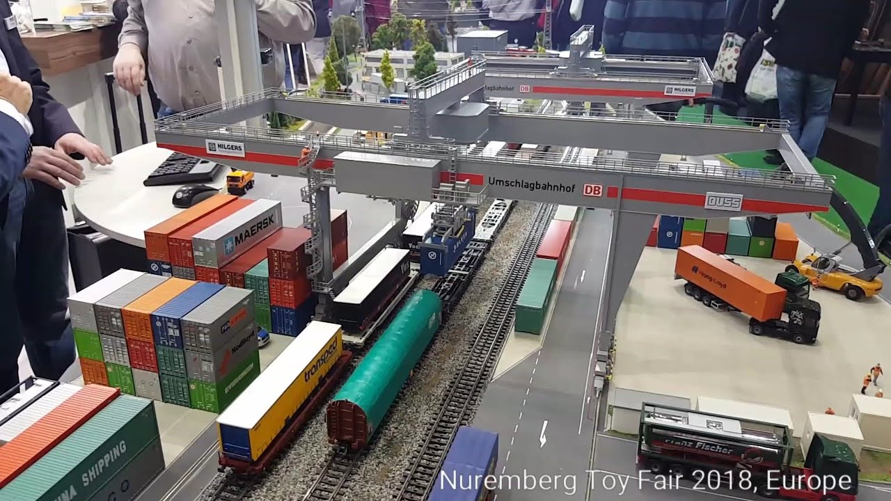 faller container portal crane nuremberg toy fair 2018 europe youtube. Black Bedroom Furniture Sets. Home Design Ideas
