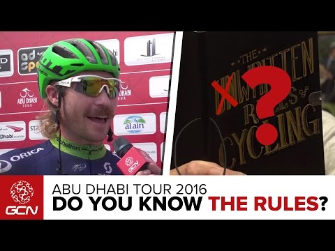 How Well Do Pro Cyclists Know The UCI Rules? | Abu Dhabi Tour 2016