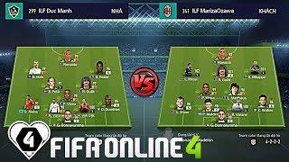 """FIFA ONLINE 4   I LOVE FIFA MỞ RỘNG VÒNG 1/8   Hoàng Đức Mạnh vs Khôi Trề: CÁI """" MÔNG """" Của VAN DIJK"""