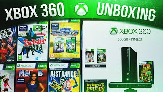 UNBOXING XBOX 360 PL + GRY KINECT