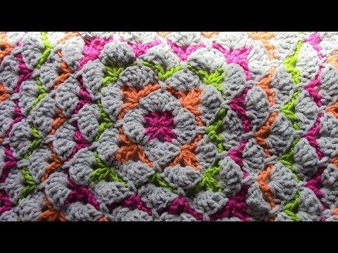 Crochet Shell Stitch Square Youtube
