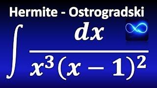 287. Integrales: Método de Hermite - Ostrogradski, paso a paso