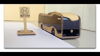 How to make bus of paper easy at home - future bus with cardboard