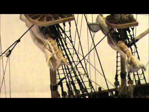 HMS BOUNTY MODEL SHIP PART 11 FINISHED