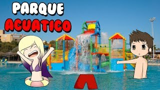 WE ACCIDENT IN THE AQUATIC PARK Roblox Robloxian WaterPark in Spanish with Lyna