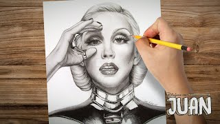 Drawing Christina Aguilera By Juan Andres (Bionic Era)