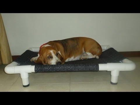 Diy dog bed tutorial hacer pr ctica cama para perros for Construir piscina para perros