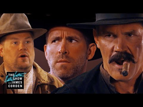 Before 'Deadpool 2' Ryan Reynolds & Josh Brolin Did A Western -- Corden's Sketch Of The Week