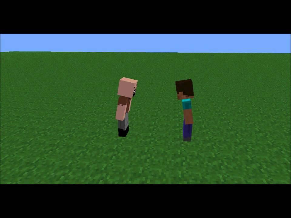 Minecraft notch vs herobrine - YouTube
