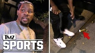 Kevin Durant -- Oops, There Goes the Weed!!! | TMZ Sports
